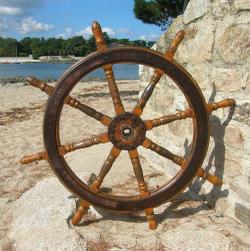 Le blogue antiquit s barre roue gouvernail - Bateau sur roues ...