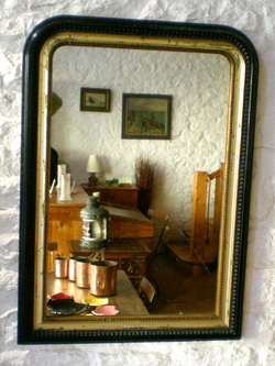 Le blogue antiquit s pour fixer un miroir mural prenez for Accrocher miroir au mur