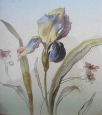 Decor_floral_iris_faience