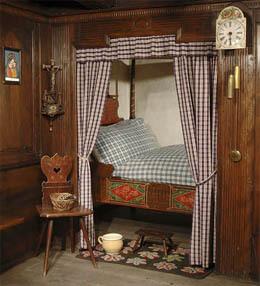 le lit pouvait galement se trouver dans une alcove comme sur cette photo gnralement situe larrire de la pice principale de la maison - Lits Alcove